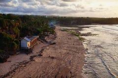 海滩的看法在巴厘岛 图库摄影