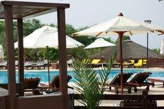 海滩的美丽的旅馆 乔丹 库存照片