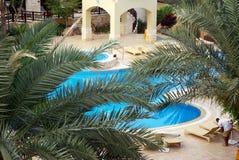 海滩的美丽的旅馆 乔丹 免版税图库摄影