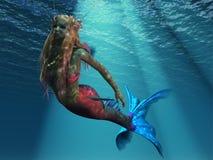 海洋的美人鱼 库存例证