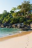 海滩的议院 库存图片