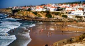 海滩的许多人民 图库摄影