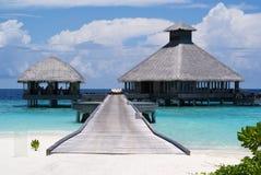 海滩的餐馆 免版税库存图片