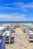 海滩的餐馆 库存照片
