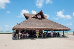 海滩的巴西餐馆 库存照片