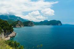 海洋盐水湖的顶视图 图库摄影