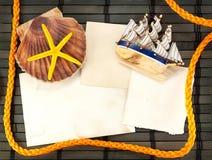 海洋看板卡。 免版税库存照片