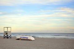 海洋看法从木板走道的在大西洋城, NJ 免版税库存图片