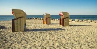 海滩睡椅三 免版税库存图片