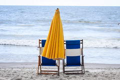 海滩睡椅在南卡罗来纳 库存图片