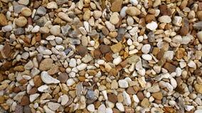海滩石渣石头 免版税图库摄影