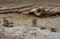 海滩石艺术 库存图片