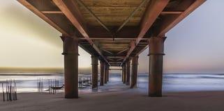 海滩码头弗吉尼亚 免版税库存照片
