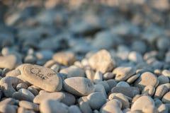 海滩禅宗石头 库存照片