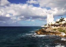 海滩 科苏梅尔,墨西哥 免版税库存图片