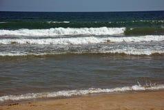 海滩空含沙 库存图片