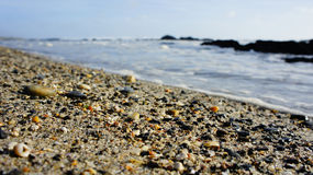 海滩等待 库存图片