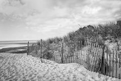 海滩篱芭 库存图片
