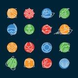 海洋线颜色象圈子 免版税图库摄影