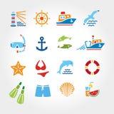 海洋线颜色icon2 库存图片