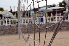 海滩网格横向夏天排球 免版税图库摄影