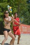 海滩网球世界队冠军2014年 库存图片