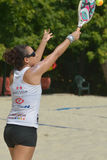 海滩网球世界队冠军2014年 免版税库存照片