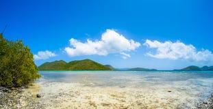 海滩美丽的加勒比 免版税库存照片