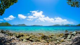 海滩美丽的加勒比 库存图片