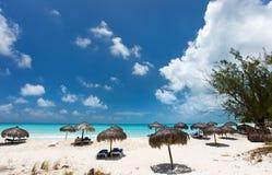 海滩美丽的加勒比 免版税库存图片