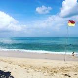 海滩美丽的日夏天妇女年轻人 库存图片