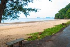 海滩美丽的景色 库存照片