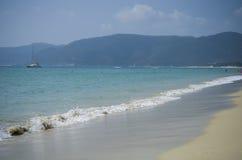 海滩美丽的萨尼亚 免版税库存图片