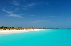 海滩美好的加勒比hollidays使旅行可用的假期环境美化非常 免版税图库摄影