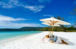 海滩美好的横向 免版税库存照片