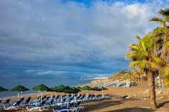 海滩肋前缘del marbella sol西班牙 免版税图库摄影