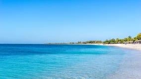 海滩肘在特立尼达,古巴 图库摄影