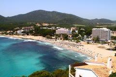 海滩胜地在西班牙 免版税库存照片