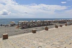 海滩胜地罗莎Khutor在解决爱德乐,索契 免版税库存照片