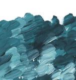 海洋绿色丙烯酸漆刷子冲程 皇族释放例证