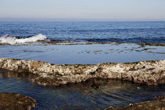 海以色列Ahziv 免版税库存照片