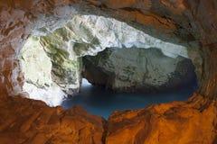 海以色列Rosh Anikra隧道 免版税库存图片