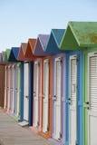 海滩色的小屋 免版税库存照片