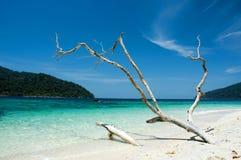 海滩蓝天白色 免版税库存照片