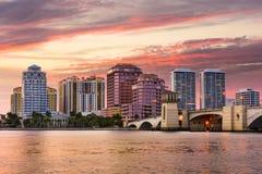 海滩西方佛罗里达的掌上型计算机 免版税库存图片