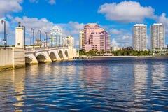 海滩西方佛罗里达的掌上型计算机 免版税图库摄影