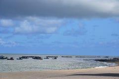海滩累西腓 库存图片