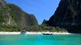 海滩视图在海 免版税库存照片