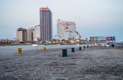 海滩视图大西洋城 免版税图库摄影