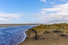 海滩视图, Chiloe海岛,智利 图库摄影